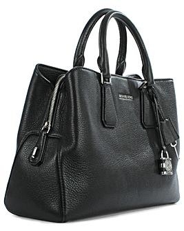 Michael Kors Black Leather Satchel Bag