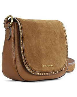 Michael Kors Tan Leather Saddle Bag
