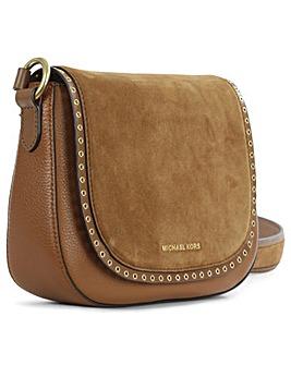 Michael Kors Tan Leather Saddle Bag