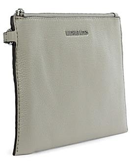 Michael Kors Grey Large Top Zip Clutch