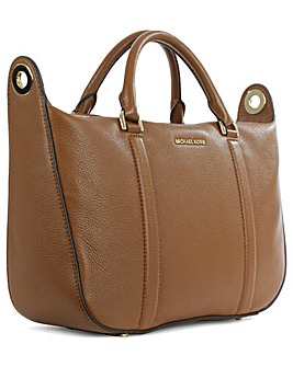 Michael Kors Tan Leather Satchel Bag