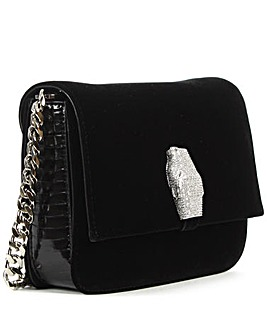 Class Cavalli Black Velvet Mini Bag