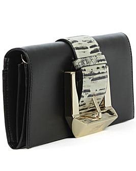 Class Cavalli Black Leather Bag