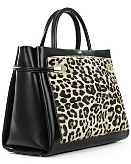 Class Cavalli Calf Hair  / Leather Bag