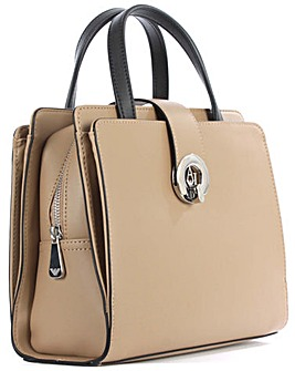 Armani Jeans Beige Eco Leather Grab Bag