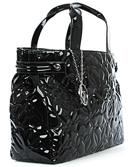 Armani Jeans Black Patent Shopper