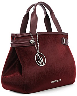Armani Jeans Pony Hair Burgundy Bag