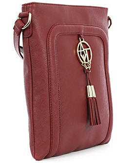 Armani Jeans Eco Burgundy Shoulder Bag
