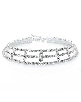 Mood diamante crystal collar necklace