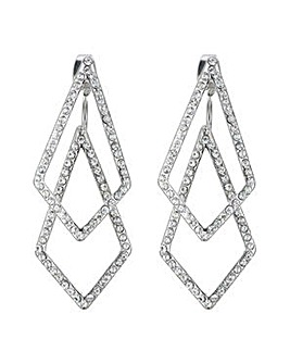 Mood silver angular earring
