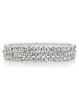 Mood silver diamante bracelet set