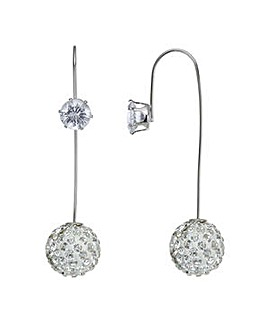 Mood crystal pave ball earring