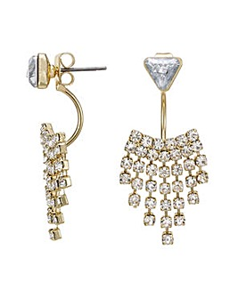 Mood gold crystal shower earring