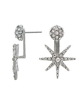 Mood silver crystal earring