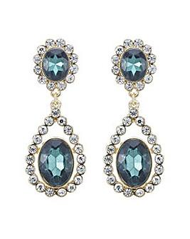 Mood green crystal drop earring