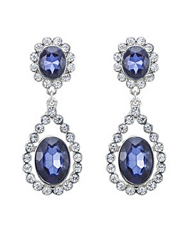 Mood blue crystal drop earring