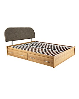 Nevada Double Bed with 4 Storage Drawers