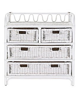 Wicker 4 and 2 Drawer Chest