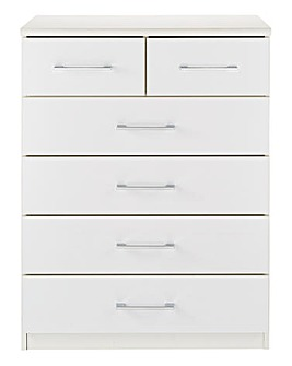 Riga Gloss 4 and 2 Drawer Chest