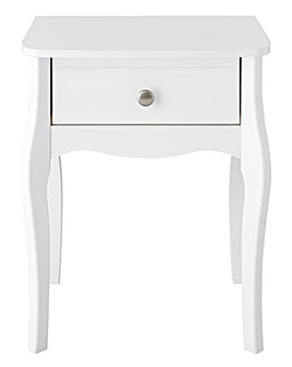 Paris 1 Drawer Bedside Table