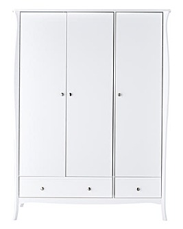 Paris 3 Door 3 Drawer Wardrobe
