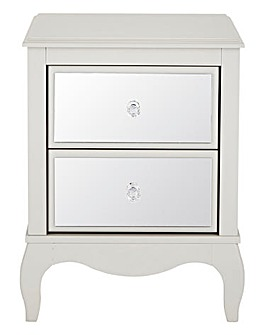 Elise Mirrored 2 Drawer Bedside Table