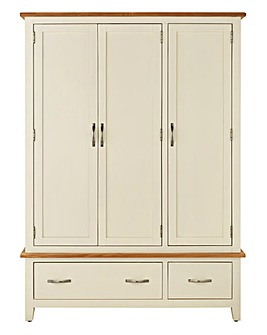 Harrogate Two Tone 3 Door 2 Drawer Robe