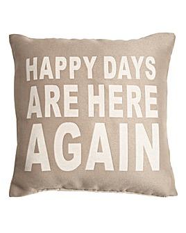 Happy Days Cushion