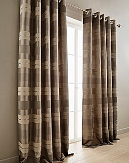 Alessia Chenille Eyelet Lined Curtains
