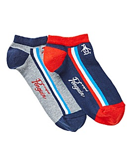 Original Penguin Pack of 2 Trainer Socks