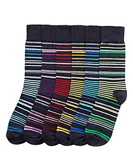 Capsule Pack of 6 Stripe Socks