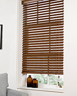 Premium Wood-Effect Blind Extra Wide