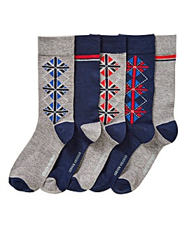 Ben Sherman Pack of 5 Boxed Socks