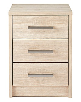 Canyon 3 Drawer Bedside Table
