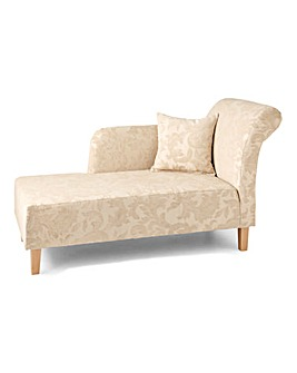 Layla Chenille Chaise Longue