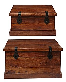 Jaipur Set of 2 Storage Boxes