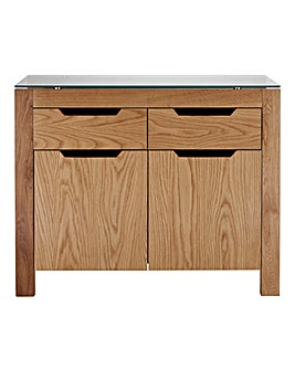 Chicago Oak 2 Door 2 Drawer Sideboard