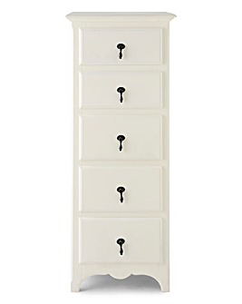 Lucille 5-Drawer Tall Chest