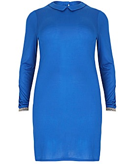 emily Jewelled Collar Dress