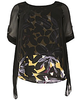 emily Layered Roll Sleeve Top