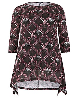 Samya Print Tunic Top