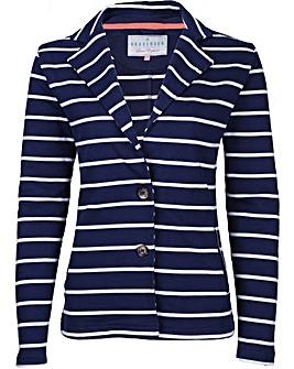 Brakeburn Striped Jersey Blazer