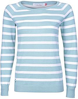 Brakeburn Green Stripe Knitted Jumper