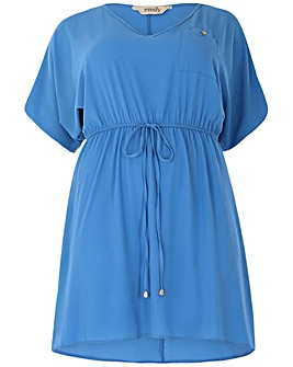 emily Crepe Tie Waist Dress