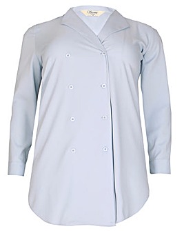 Sienna Couture Tuxedo Shirt Dress