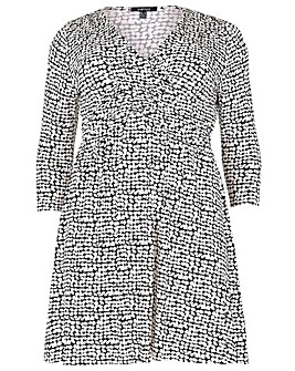 Samya Abstract Print Wrap Dress