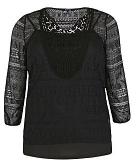 Samya Crochet Detail Top