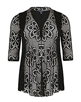 Samya All Over Lace Cardigan
