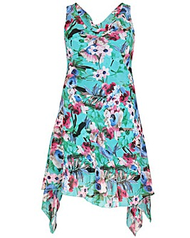 Samya Floral Print Swing Dress