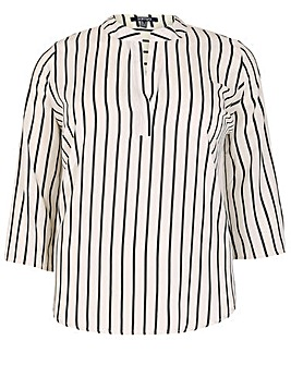 Samya Striped Button Top